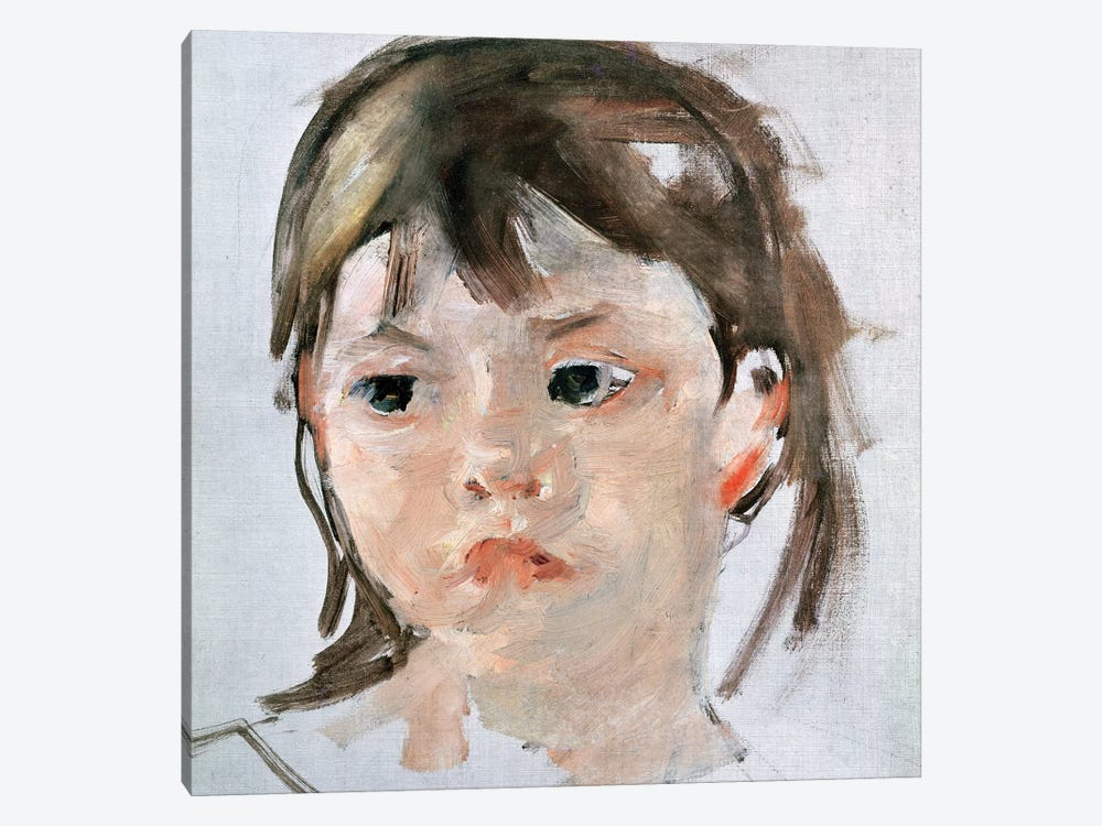 Head Of A Young Girl 1-piece Canvas Art