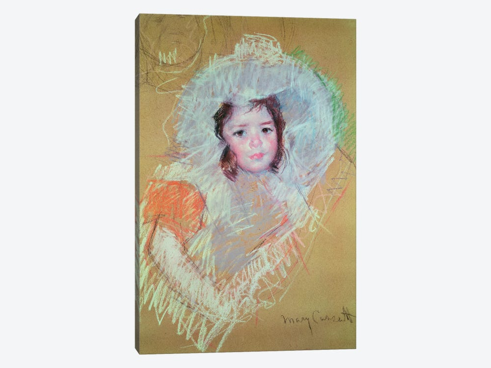 Head Of A Young Girl (Petit Palais) by Mary Stevenson Cassatt 1-piece Canvas Wall Art