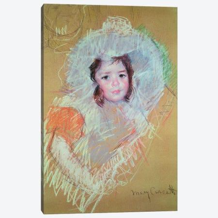 Head Of A Young Girl (Petit Palais) Canvas Print #BMN6840} by Mary Stevenson Cassatt Art Print