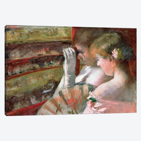 In The Box Canvas Print #BMN6841} by Mary Stevenson Cassatt Canvas Art Print