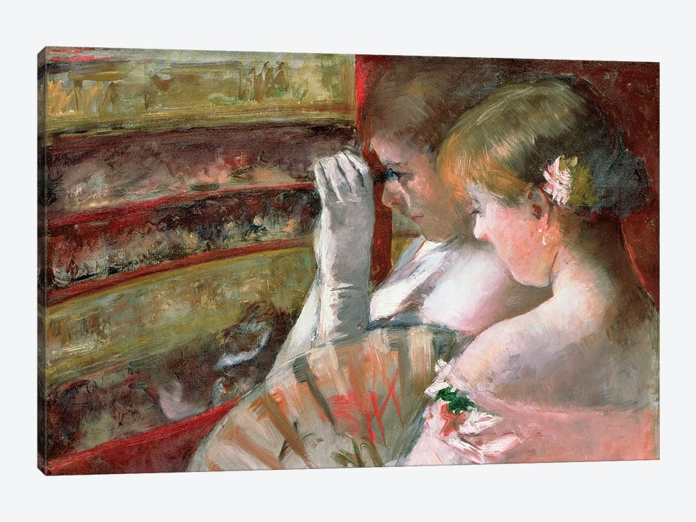 In The Box by Mary Stevenson Cassatt 1-piece Canvas Print