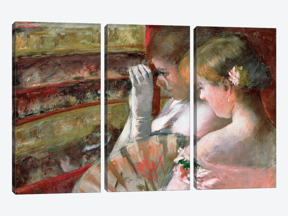 In The Box by Mary Stevenson Cassatt 3-piece Canvas Print