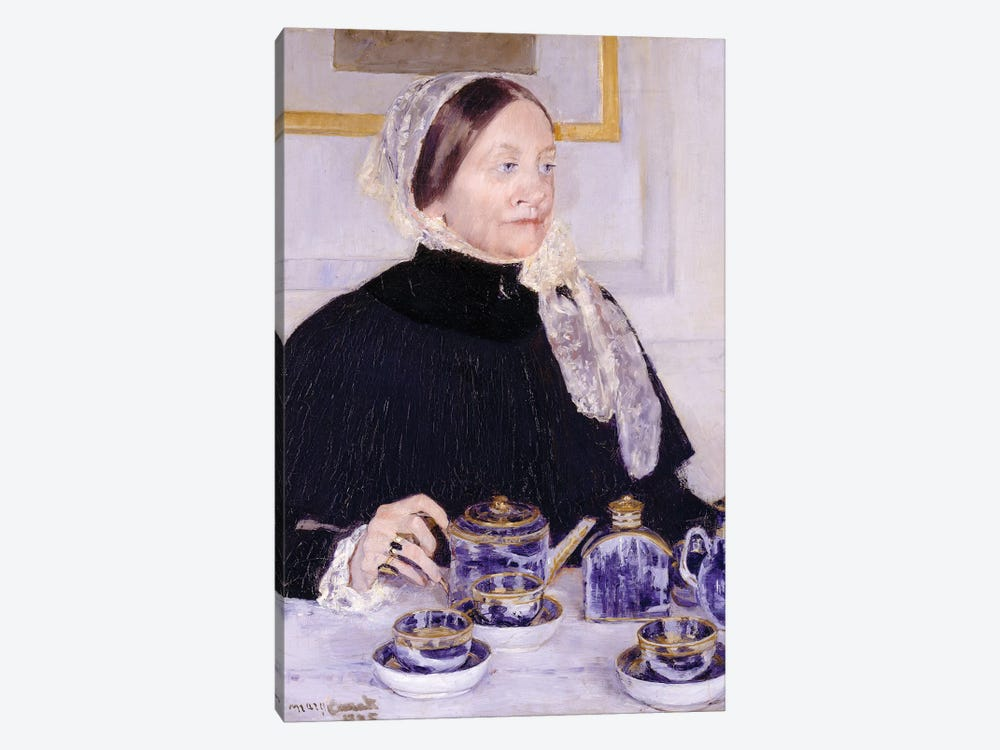 Lady At The Tea Table, 1883-85 1-piece Canvas Wall Art