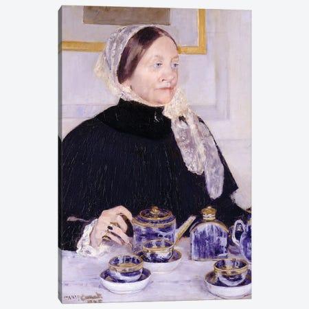 Lady At The Tea Table, 1883-85 Canvas Print #BMN6842} by Mary Stevenson Cassatt Art Print