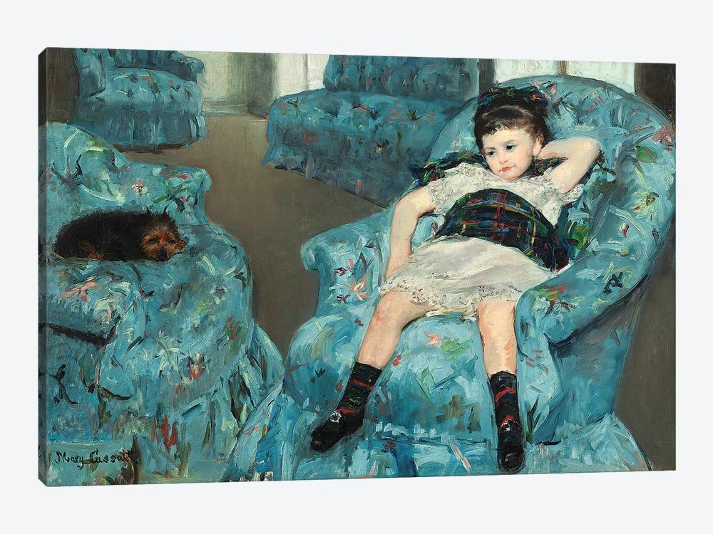 Little Girl In A Blue Armchair, 1878 by Mary Stevenson Cassatt 1-piece Art Print