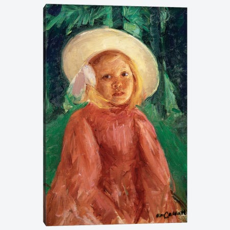 Little Girl In A Redcurrant Dress, 1912 Canvas Print #BMN6844} by Mary Stevenson Cassatt Canvas Art