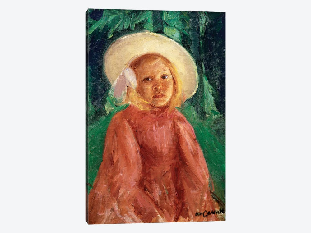 Little Girl In A Redcurrant Dress, 1912 1-piece Canvas Wall Art