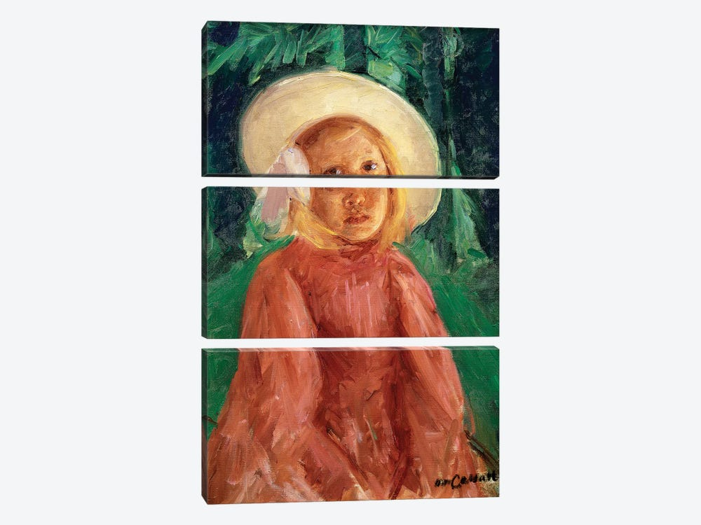 Little Girl In A Redcurrant Dress, 1912 3-piece Canvas Artwork