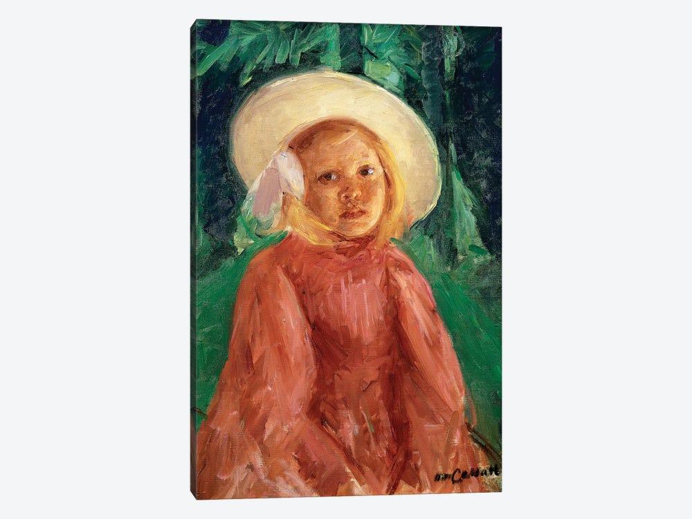 Little Girl In A Redcurrant Dress, 1912 by Mary Stevenson Cassatt 1-piece Canvas Wall Art