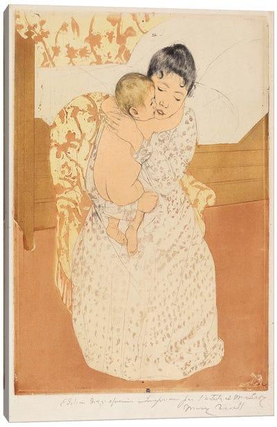 Maternal Caress, 1890-91 Canvas Art Print