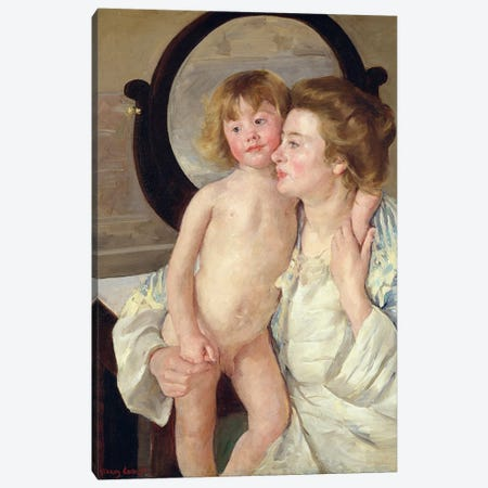 Mother And Boy, c.1899 Canvas Print #BMN6849} by Mary Stevenson Cassatt Canvas Print