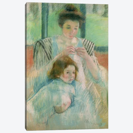 Mother And Child Canvas Print #BMN6850} by Mary Stevenson Cassatt Canvas Wall Art