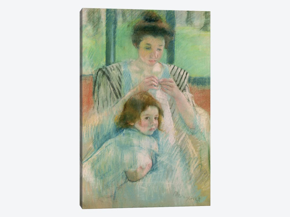 Mother And Child by Mary Stevenson Cassatt 1-piece Canvas Art Print