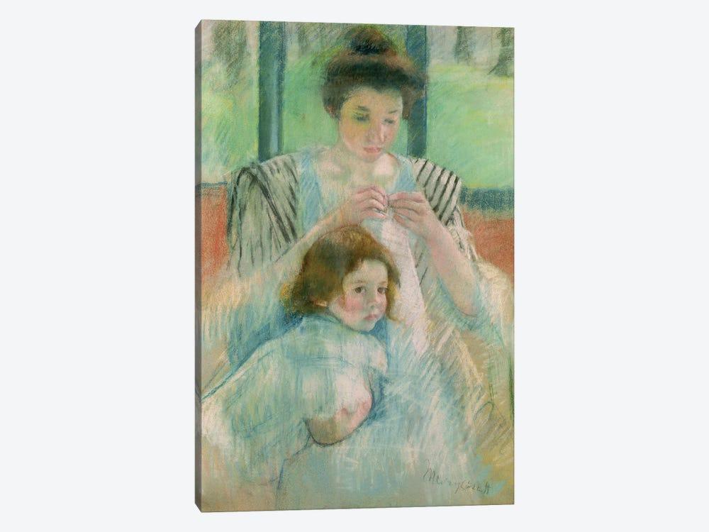 Mother And Child by Mary Stevenson Cassatt 1-piece Canvas Art Print