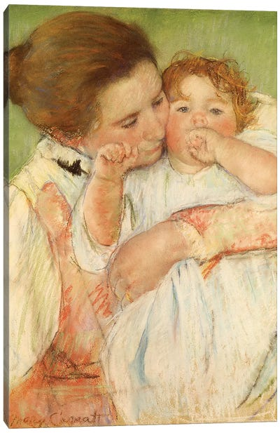 Mother And Child, 1897 Canvas Art Print
