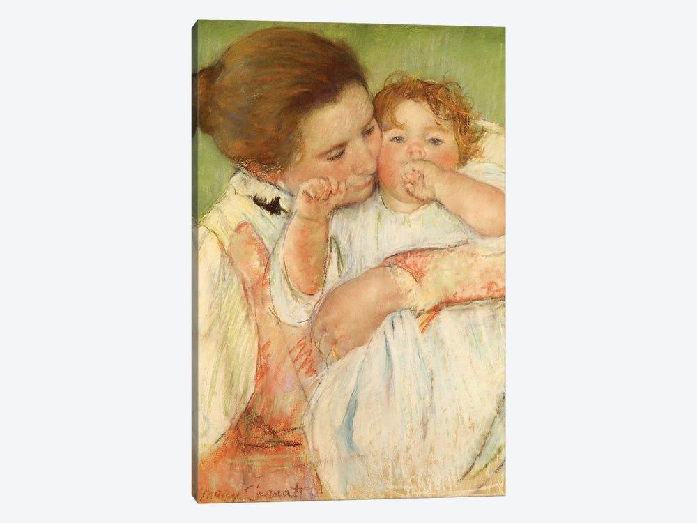 Mother And Child, 1897 by Mary Stevenson Cassatt 1-piece Canvas Wall Art