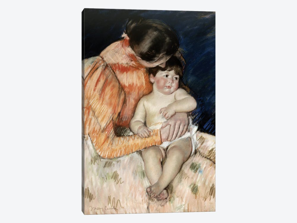 Mother And Child, c.1890-99 by Mary Stevenson Cassatt 1-piece Art Print