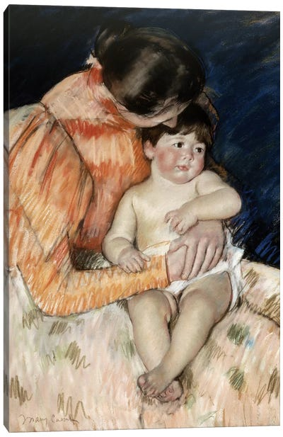 Mother And Child, c.1890-99 Canvas Art Print