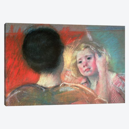 Mother Combing Sara's Hair Canvas Print #BMN6854} by Mary Stevenson Cassatt Canvas Print
