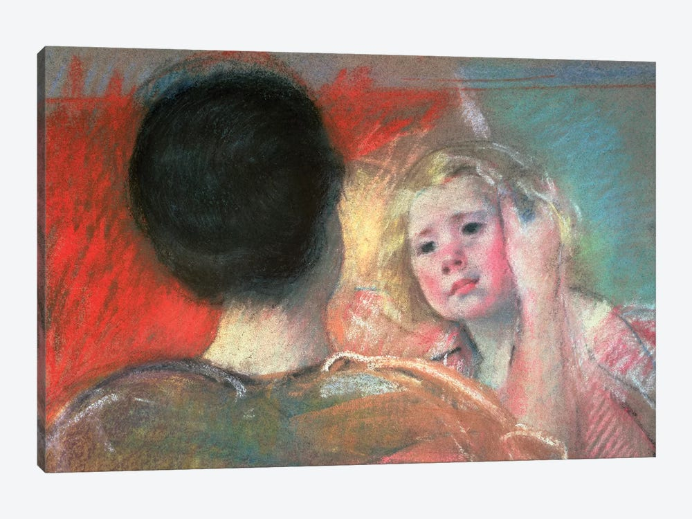 Mother Combing Sara's Hair by Mary Stevenson Cassatt 1-piece Canvas Art Print
