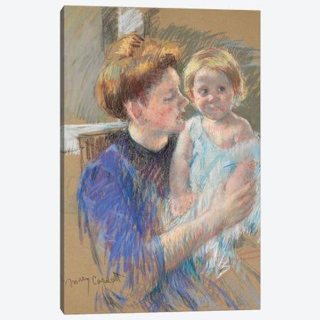 Mother In Purple Holding Her Child, c.1914 Canvas Print #BMN6855} by Mary Stevenson Cassatt Canvas Print