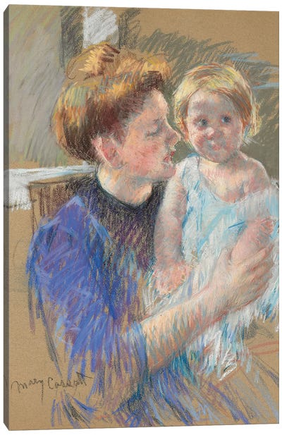 Mother In Purple Holding Her Child, c.1914 Canvas Art Print