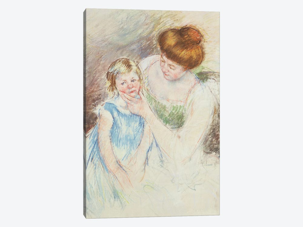 Mother With Left Hand Holding Sara's Chin by Mary Stevenson Cassatt 1-piece Art Print