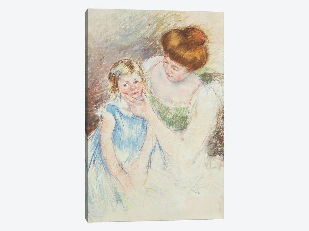 Mother With Left Hand Holding Sara's Chin by Mary Stevenson Cassatt 1-piece Art Print