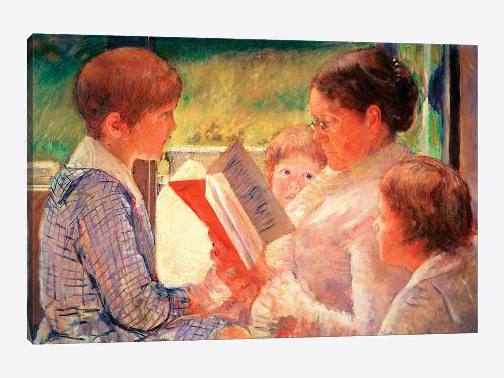 Mrs. Cassatt Reading To Her Grandchildren, 1888 by Mary Stevenson Cassatt 1-piece Canvas Art