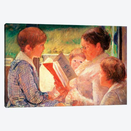 Mrs. Cassatt Reading To Her Grandchildren, 1888 Canvas Print #BMN6859} by Mary Stevenson Cassatt Canvas Art
