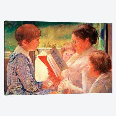 Mrs. Cassatt Reading To Her Grandchildren, 1888 Canvas Print #BMN6859} by Mary Stevenson Cassatt Canvas Art