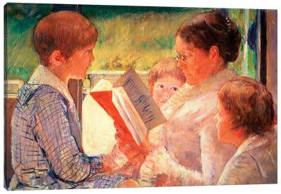 Mrs. Cassatt Reading To Her Grandchildren, 1888 Canvas Art Print