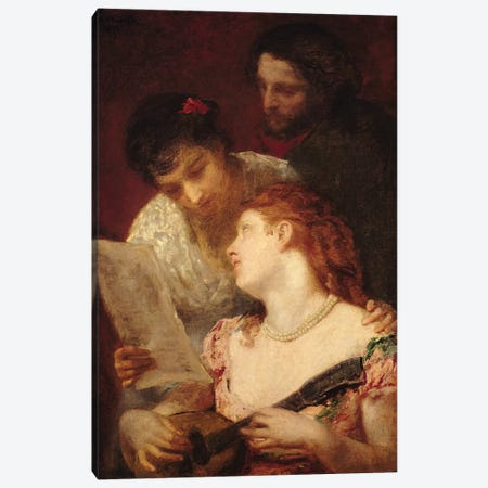 Musical Party, 1874 Canvas Print #BMN6860} by Mary Stevenson Cassatt Art Print