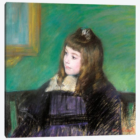 Portrait de Marie-Therese Gaillard Canvas Print #BMN6862} by Mary Stevenson Cassatt Art Print