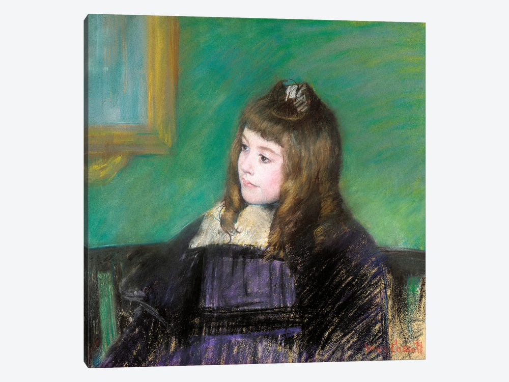 Portrait de Marie-Therese Gaillard by Mary Stevenson Cassatt 1-piece Canvas Art