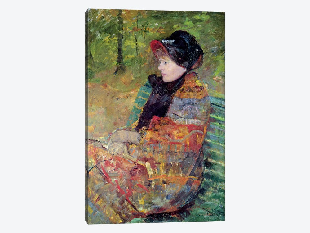 Portrait Of Mademoiselle C. Lydia Cassatt, 1880 by Mary Stevenson Cassatt 1-piece Canvas Artwork