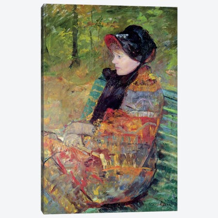 Portrait Of Mademoiselle C. Lydia Cassatt, 1880 Canvas Print #BMN6864} by Mary Stevenson Cassatt Canvas Art
