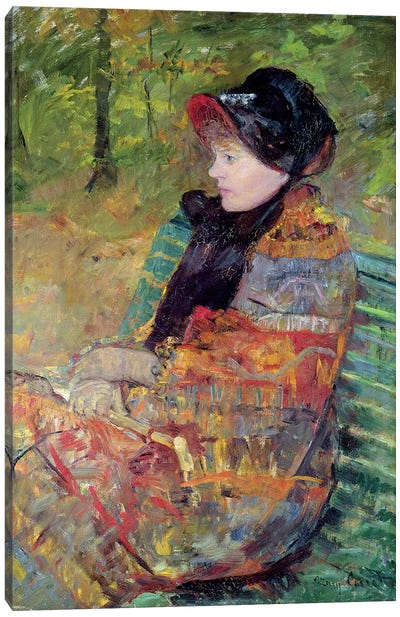 Portrait Of Mademoiselle C. Lydia Cassatt, 1880 Canvas Art Print