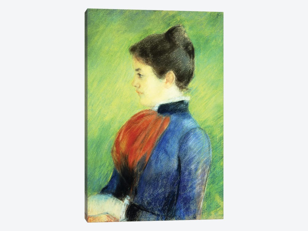 Profile Of A Woman Wearing A Jabot 1-piece Canvas Art Print