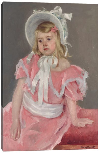 Sara Seated, Leaning On Her Left Hand Canvas Art Print