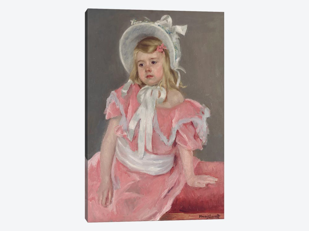 Sara Seated, Leaning On Her Left Hand by Mary Stevenson Cassatt 1-piece Canvas Art