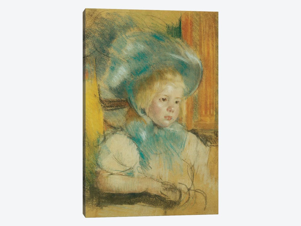 Simone In A Plumed Hat, c.1903 by Mary Stevenson Cassatt 1-piece Art Print