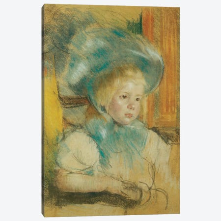 Simone In A Plumed Hat, c.1903 Canvas Print #BMN6867} by Mary Stevenson Cassatt Canvas Art