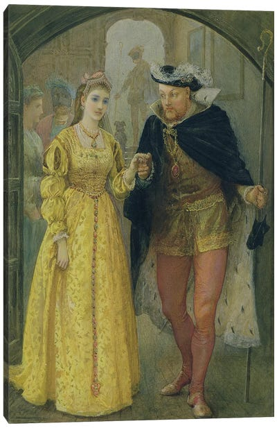 Henry VIII and Anne Boleyn Canvas Art Print