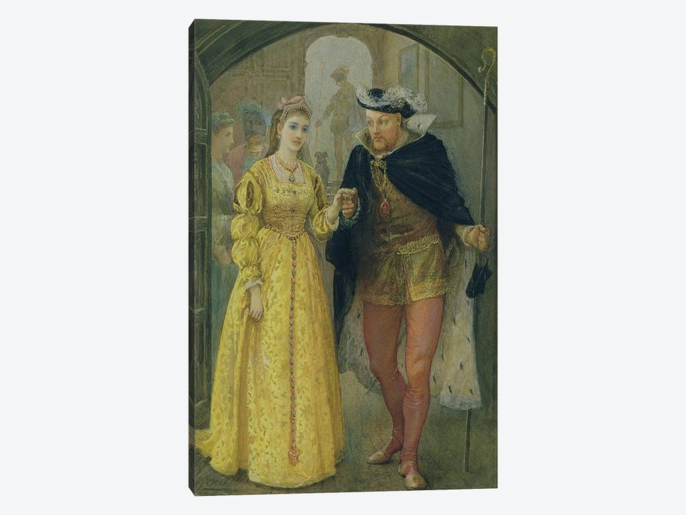 Henry VIII and Anne Boleyn by Arthur Hopkins 1-piece Canvas Art Print