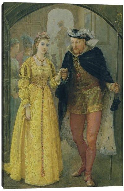 Henry VIII and Anne Boleyn Canvas Art Print
