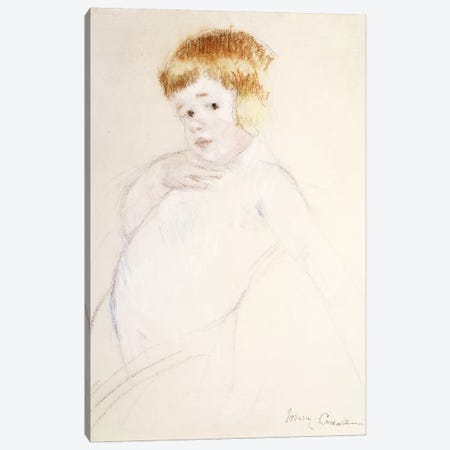 Study Of The Baby, The Caress, c.1902 Canvas Print #BMN6870} by Mary Stevenson Cassatt Canvas Artwork