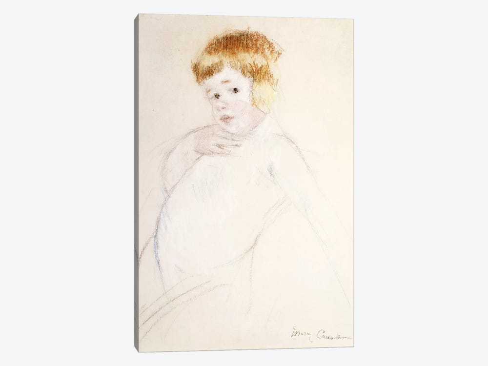 Study Of The Baby, The Caress, c.1902 by Mary Stevenson Cassatt 1-piece Canvas Print