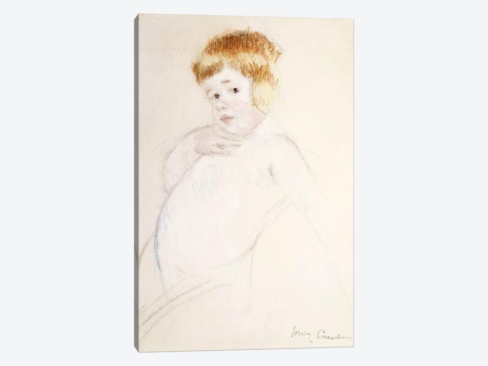 Study Of The Baby, The Caress, c.1902 by Mary Stevenson Cassatt 1-piece Canvas Print