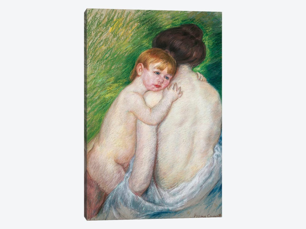 The Bare Back, 1906 by Mary Stevenson Cassatt 1-piece Canvas Art